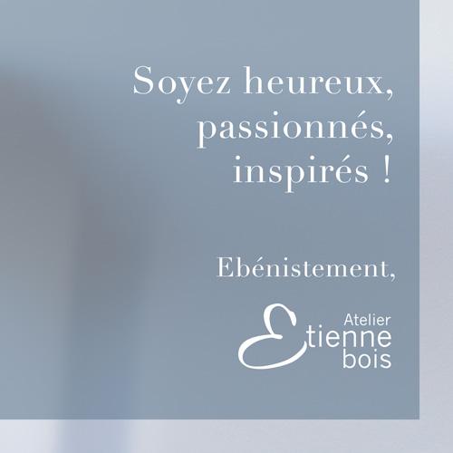 voeux 2018 de l'Atelier Etienne bois par l'Agence Iltze - extrait quote