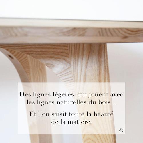 Visuel créé par l'Agence Iltze pour la table ALTA par l'Atelier Etienne bois