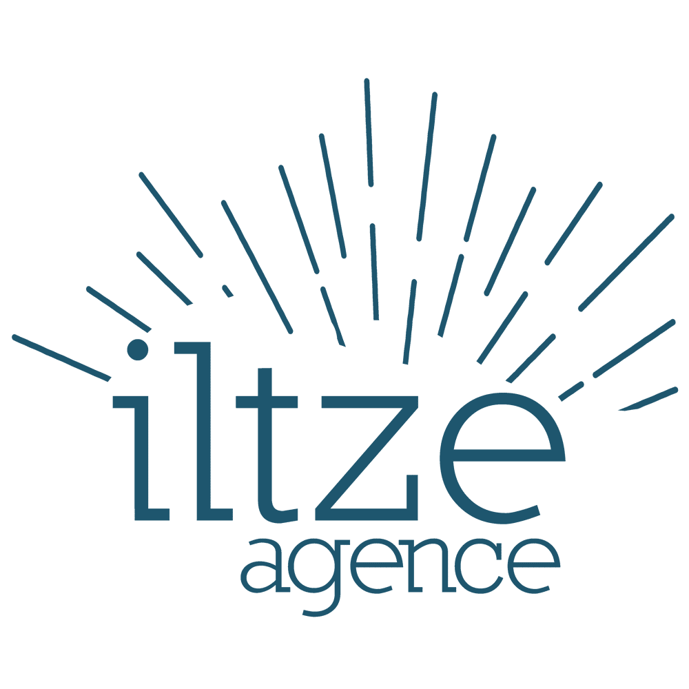 Logo de l'Agence Iltze version bleu foncé
