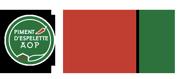 Logo du Syndicat du Piment d'Espelette AOP, photographe, référence client de l'Agence Iltze, communication et community management