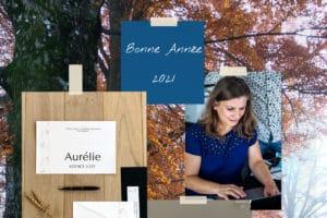 Carte de voeux de l'Agence Iltze retraçant les moments forts de l'année : Masterclass, achat des bureaux, formations...)