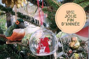 Photo du sapin de Noël 2020 de l'Agence Iltze à Espelette, au Pays basque
