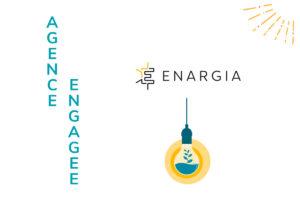 Encart de l'engamenet de l'Agence Iltze en faveur d'une économie plus locale et plus durable au travers du fournisseur d'énergie Enargia