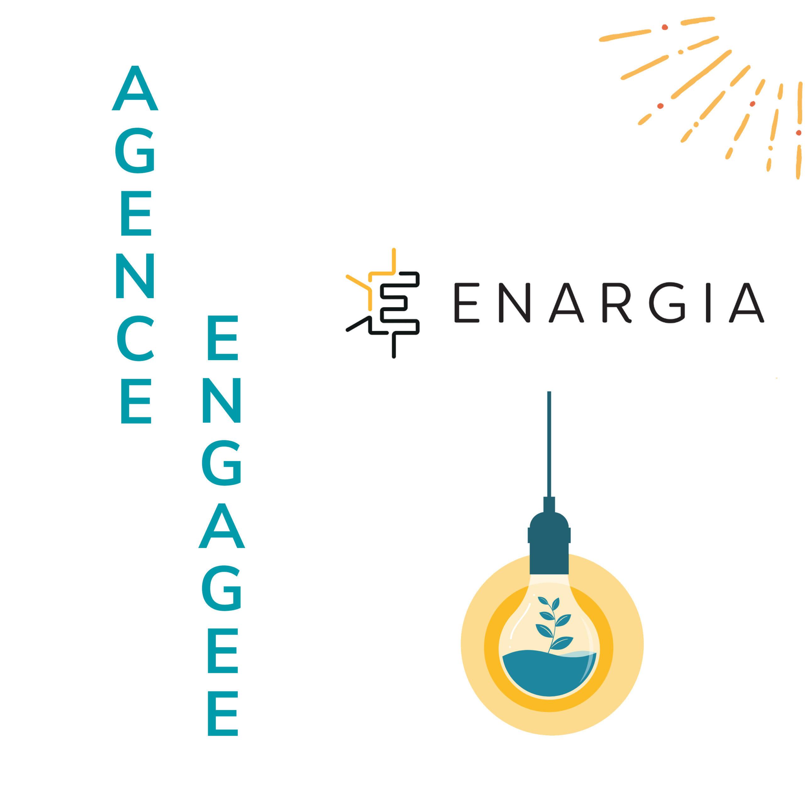 Badge de l'engamenet de l'Agence Iltze en faveur d'une économie plus locale et plus durable au travers du fournisseur d'énergie Enargia