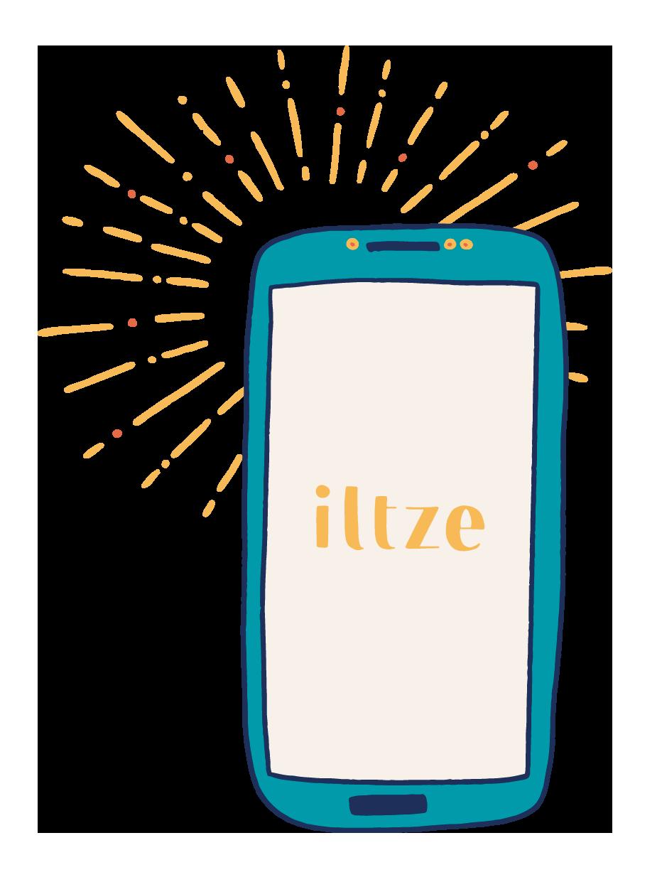 Portable illustrant la Continuité des services community management de l'agence iltze